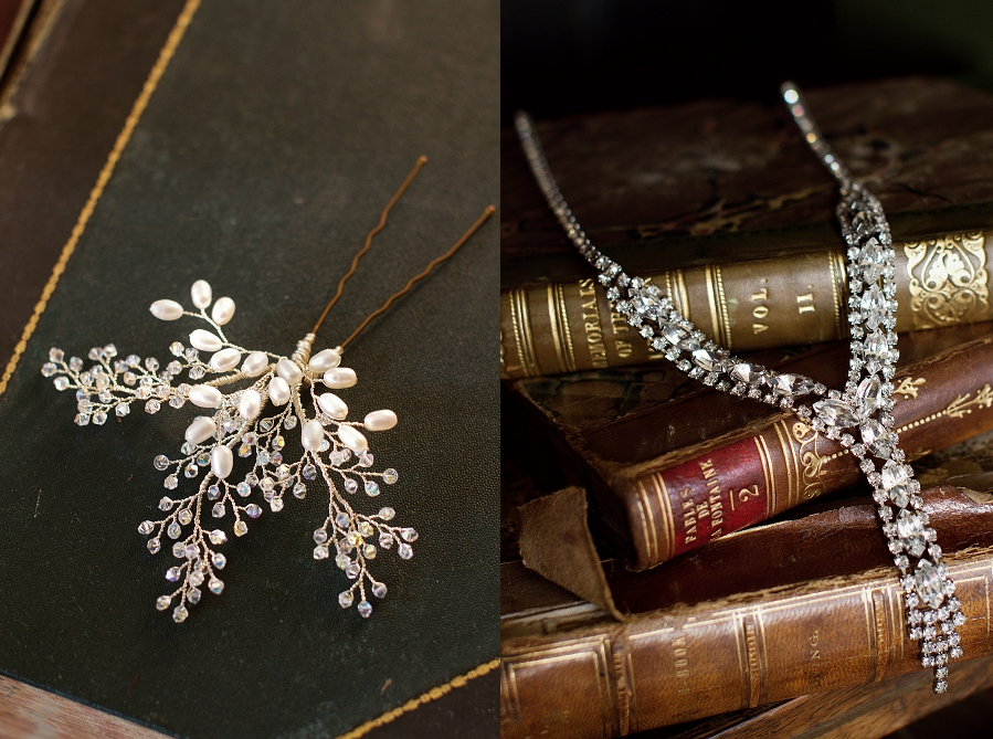 Hanbury Manor Bridal Shoot 1920s wedding inspiration intage Wedding Hair Accessories